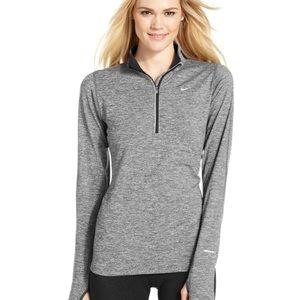 Nike dri fit gray quarter zip top size medium